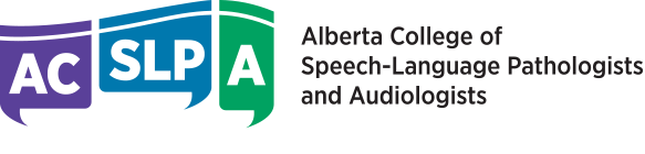 Alberta College of Speech-Language Pathologists and Audiologists Logo